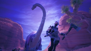 fortnite season x dinosaur