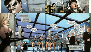 The Penguin at his Iceberg Lounge in 'Gotham Underground #1' (2007)