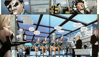 The Penguin at his Iceberg Lounge in 'Gotham Underground #1' (2007)