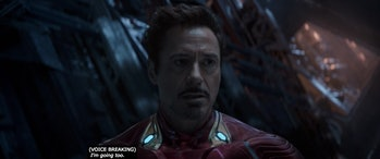 'Avengers: Infinity War' Iron Man leaves on the alien ship