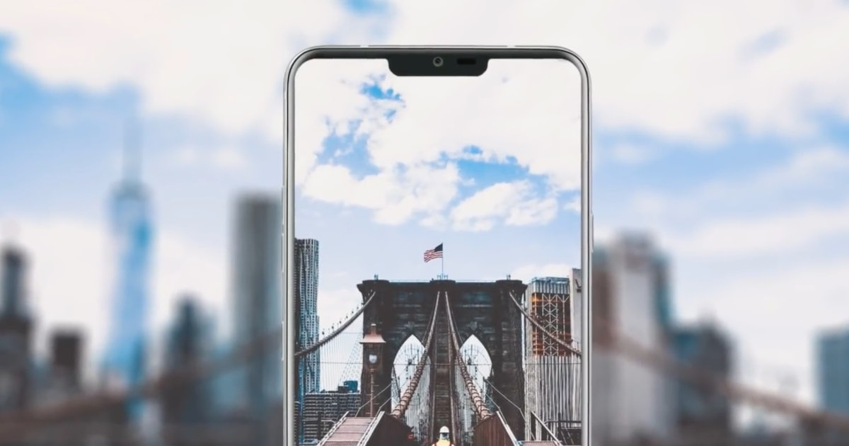 iPhone X-Style 'Notch' Revealed in This LG G7 Render, With a Twist