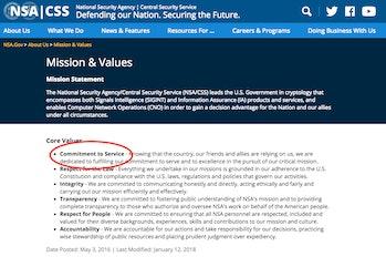 NSA, privacy, honesty