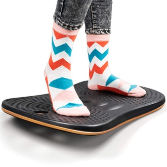 Fezibo Wooden Wobble Balance Board Stability Rocker