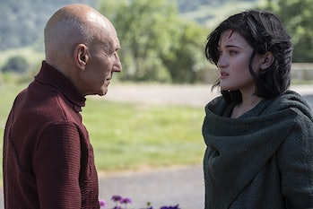 Patrick Stewart as Jean-Luc Picard and Isa Briones as Dahj in 'Star Trek: Picard'