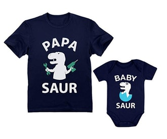 Papa Saur T-Rex Dad & Baby Saur Daddy and Me Matching Set Father & Son Daughter