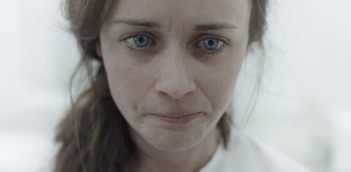 Ofglen (Alexis Bledel) is debriefed on what the government has done to her.