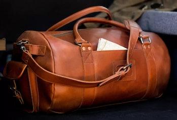 Denver Leather Travel Duffel Bag