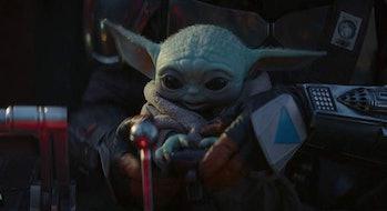 Baby Yoda on board the Razor Crest in 'The Mandalorian' on Disney Plus