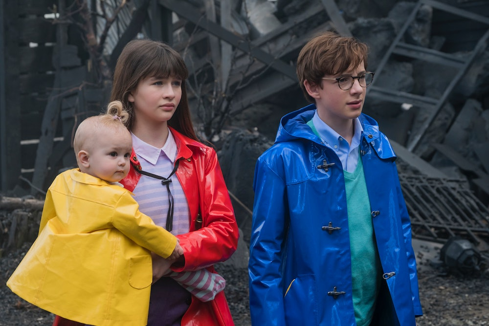 The Baudelaire Orphans in 'A Series of Unfortunate Events'