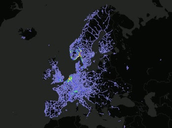 Teslas in Western Europe.