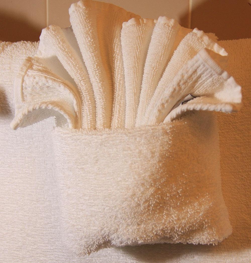 folded washcloths