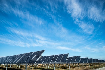 Solar panels are undercutting fossil fuels.