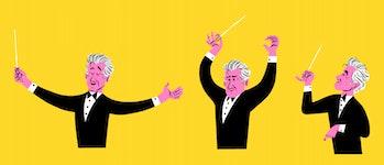Google Doodle of Leonard Bernstein