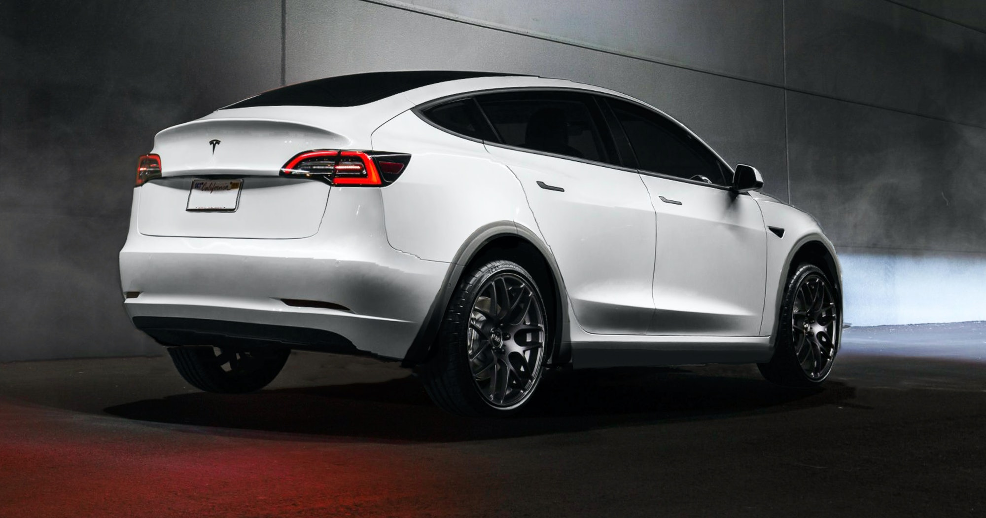 The Model Y concept from the rear.