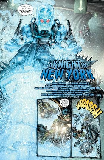 Batman Ninja Turtles II Preview Mr Freeze