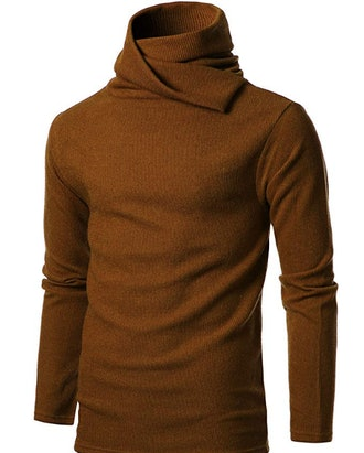 GIVON Mens Slim Fit Soft Cotton Blend Abundant Turtle Neck Pullover Sweater
