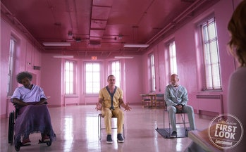 Samuel L. Jackson, James McAvoy, and Bruce Willis in 'Glass'.