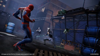 Spider-Man fighting some of Mister Negative's Inner Demons in 'Spider-Man' on PS4.