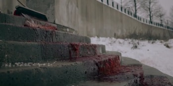 The Handmaids wash blood off the walls to impress the incoming delegates.