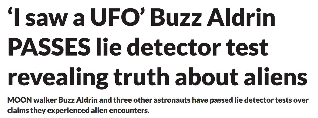 daily star buzz aldrin UFO conspiracy