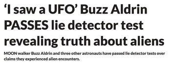 daily star buzz aldrin UFO conspiracy