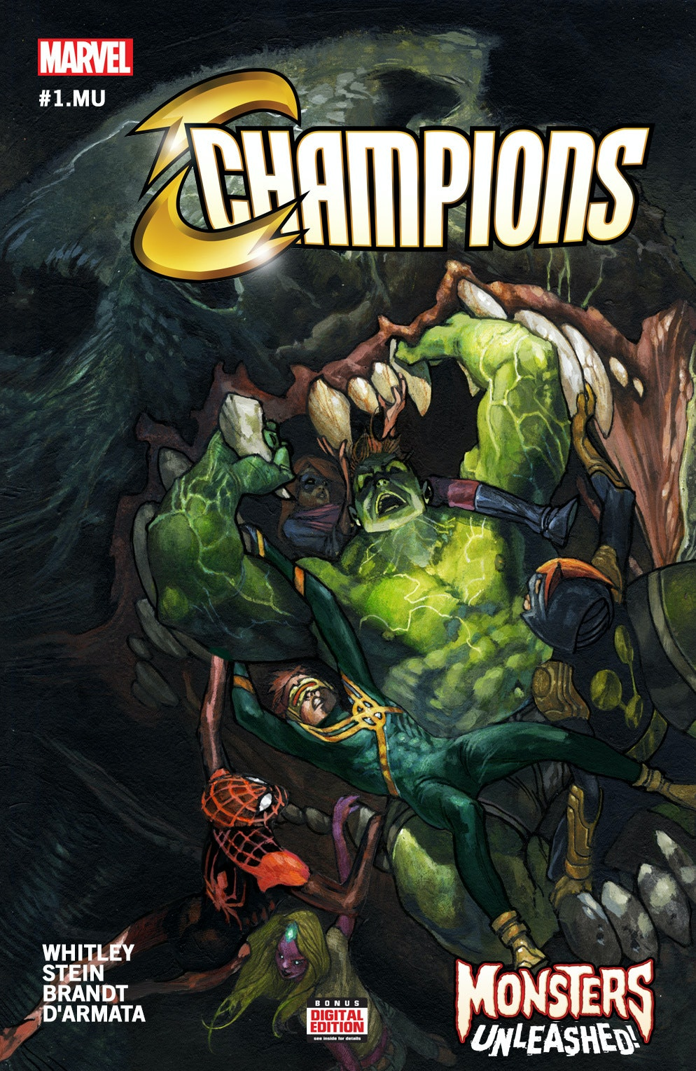 Champions Monsters Unleashed cover for Marvel
