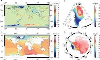 climate change mass map