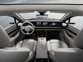 The Sony Vision-S interior.