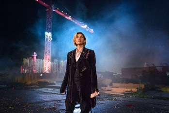 "Jodie Whittaker in ""The Woman Who Fell to Earth."""