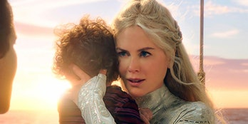 Nicole Kidman with baby Aquaman