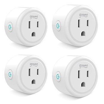 Smart plug, Gosund Mini Wifi Outlet Works With Alexa, Google Home & IFTTT, No Hub Required, Remote Control Your Home Appliances from Anywhere