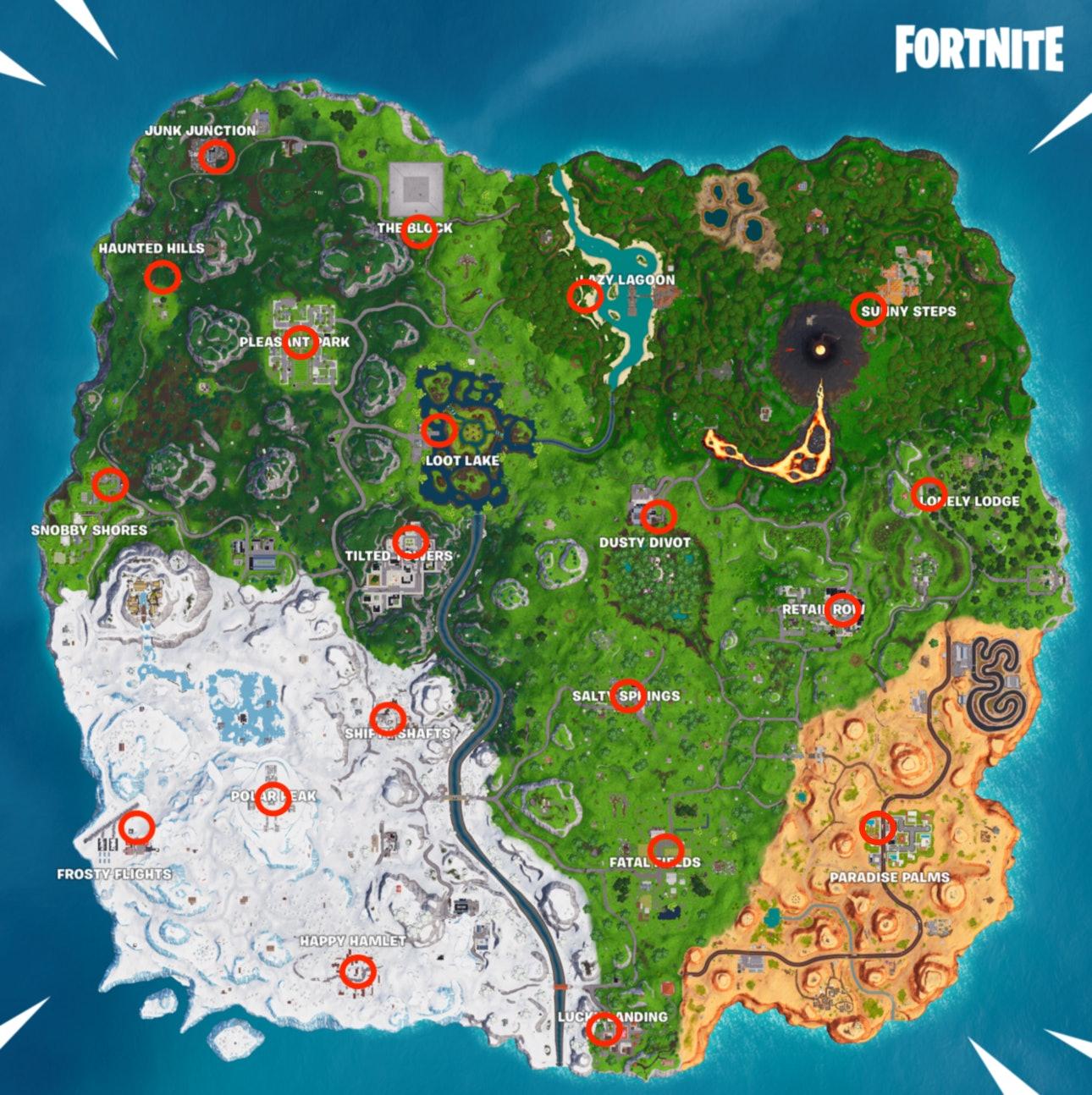 Fortnite Reboot Van Locations Map