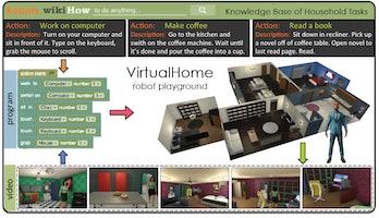 virtualhome training for robots MIT