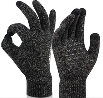 OKYWILL Winter Knit Touchscreen Gloves