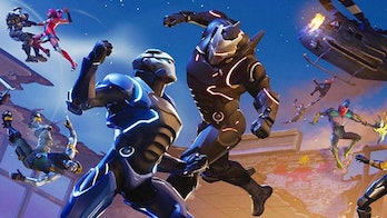 One of the loading screens in 'Fortnite' shows Carbide and Omega fighting.