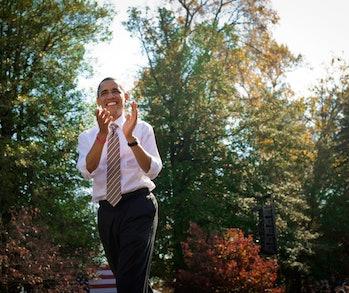 Barack Obama Fall