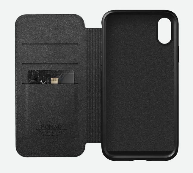 NomadRugged Folio - iPhone XS Max Wallet Case