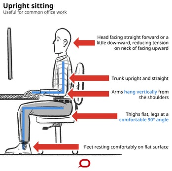 sitting work posture