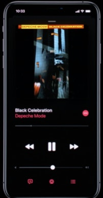 Music dark mode