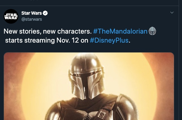 A vague tweet from Star Wars on Twitter
