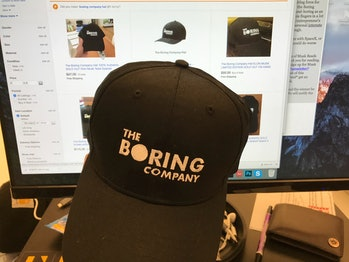 Boring Company Hat at Inverse Dot com
