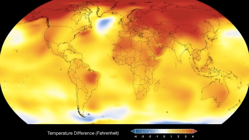 heat map, NASA