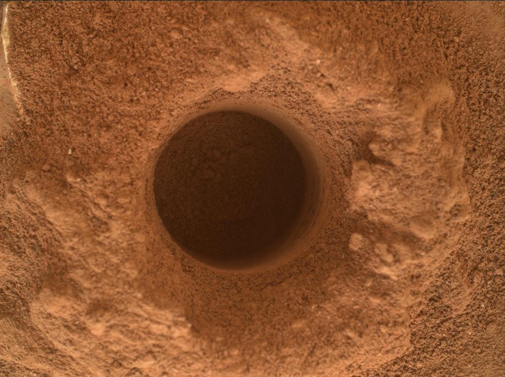 duluth drill hole Mars