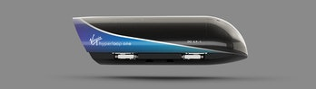 The Virgin Hyperloop One pod.
