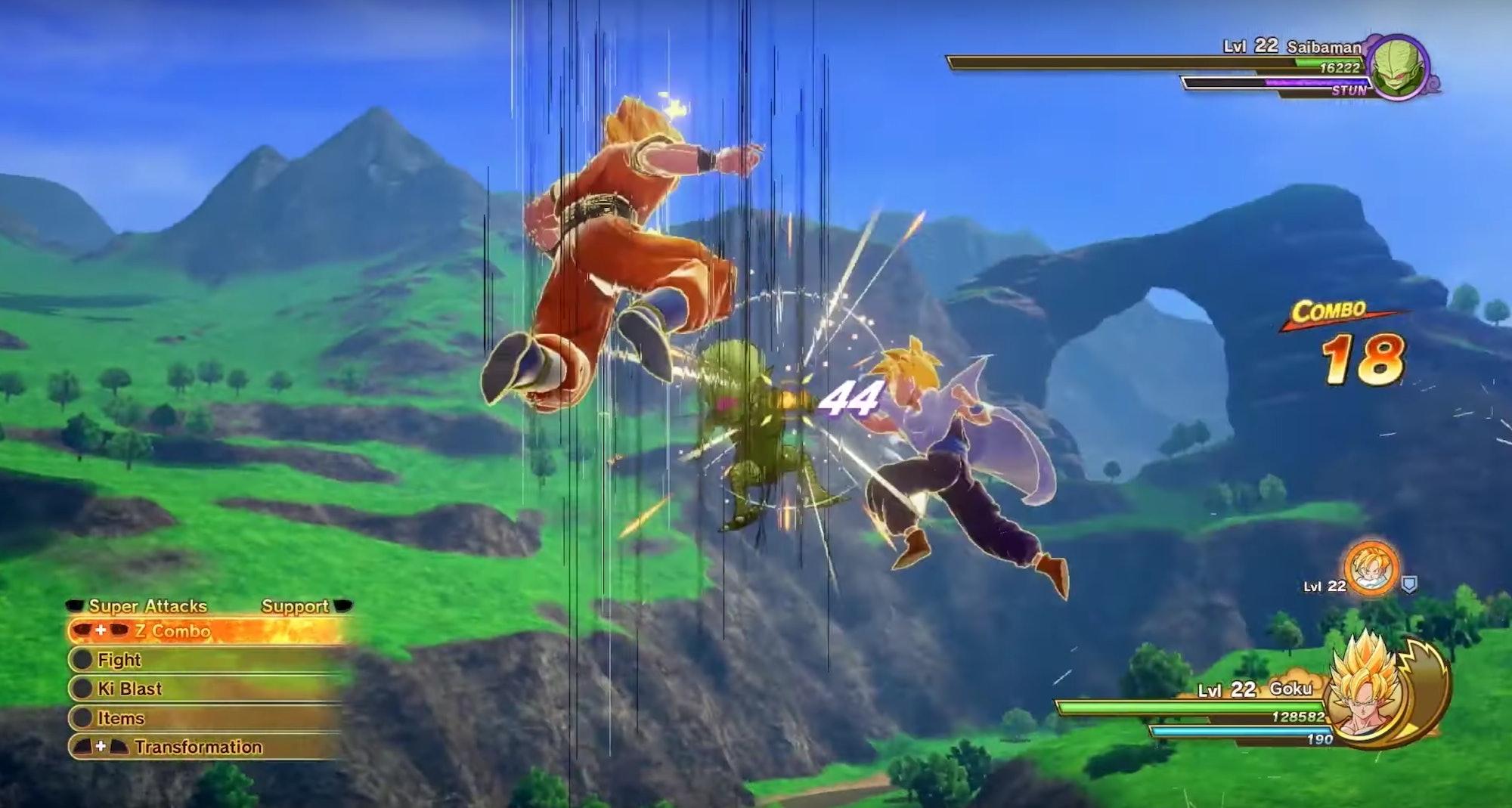 dragon ball kakarot combat