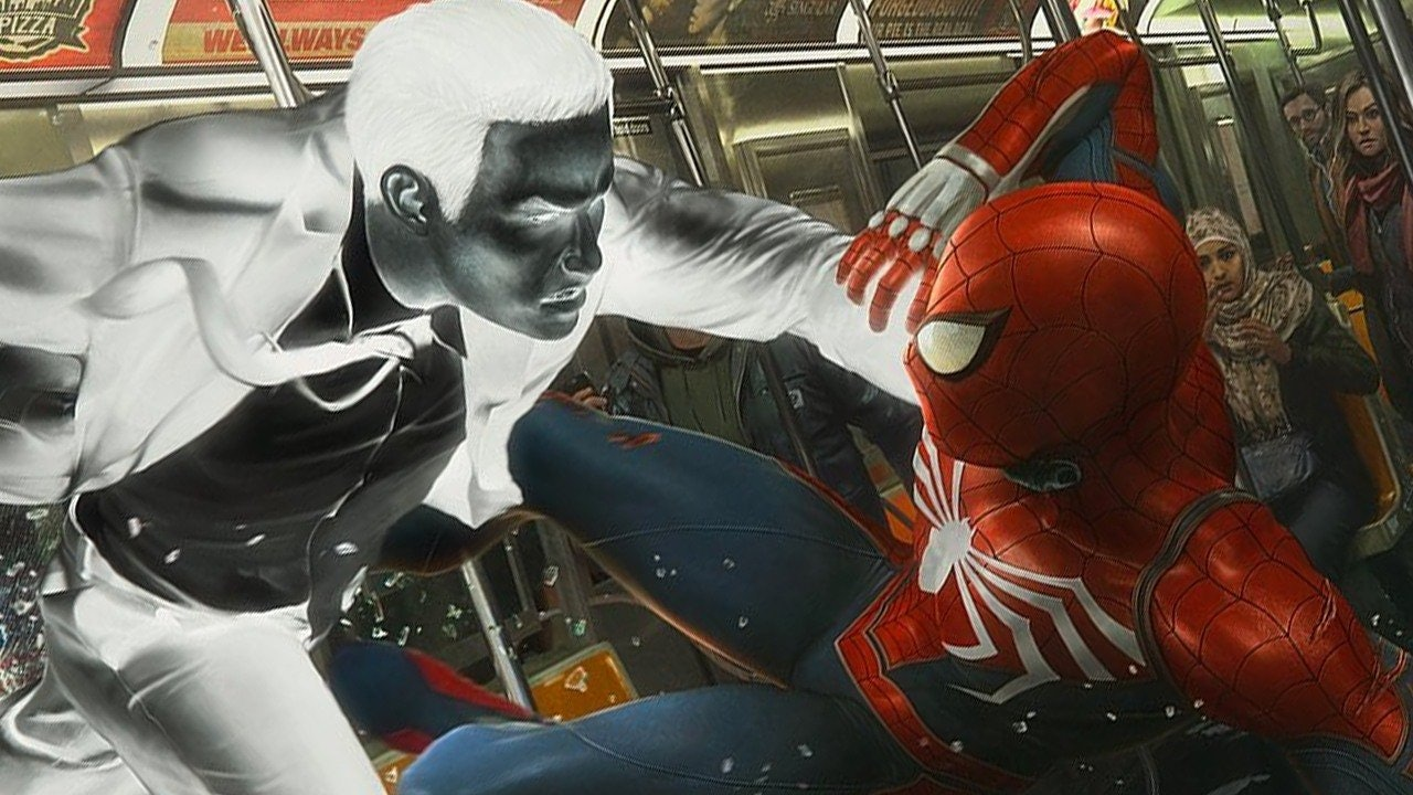 Spider-Man squares off against Mister Negative in the 'Spider-Man' game.