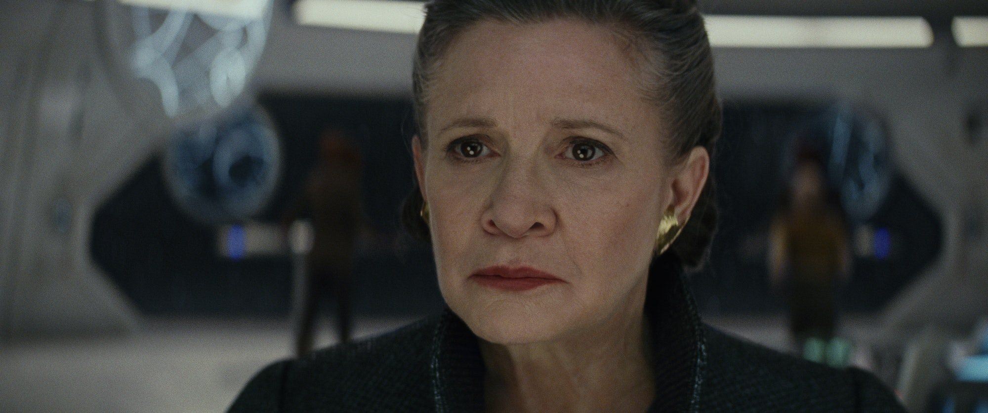Carrie Fisher as Leia Organa in 'The Last Jedi'.