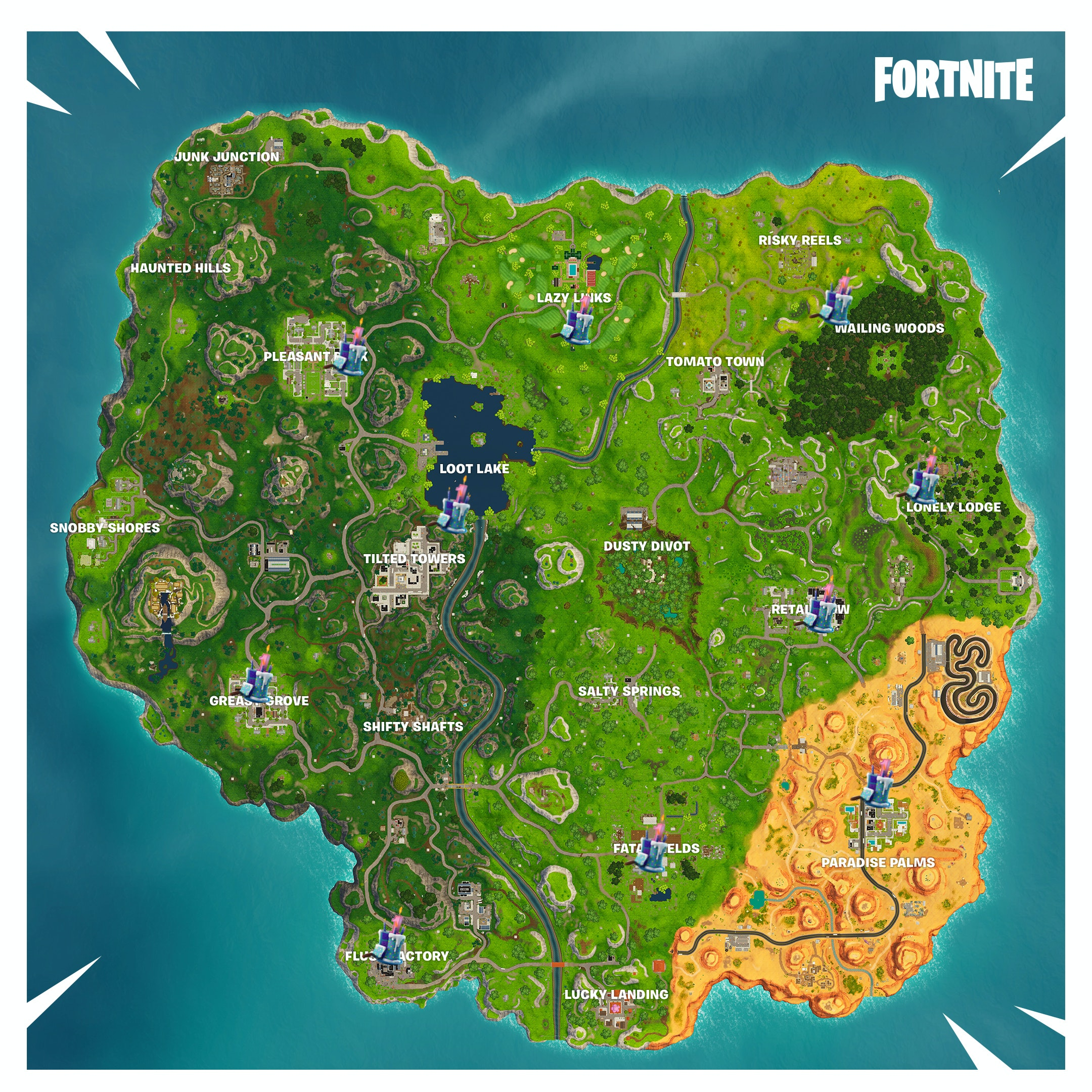Fortnite Birthday Cake Locations Where To Find Every Cake On The Map