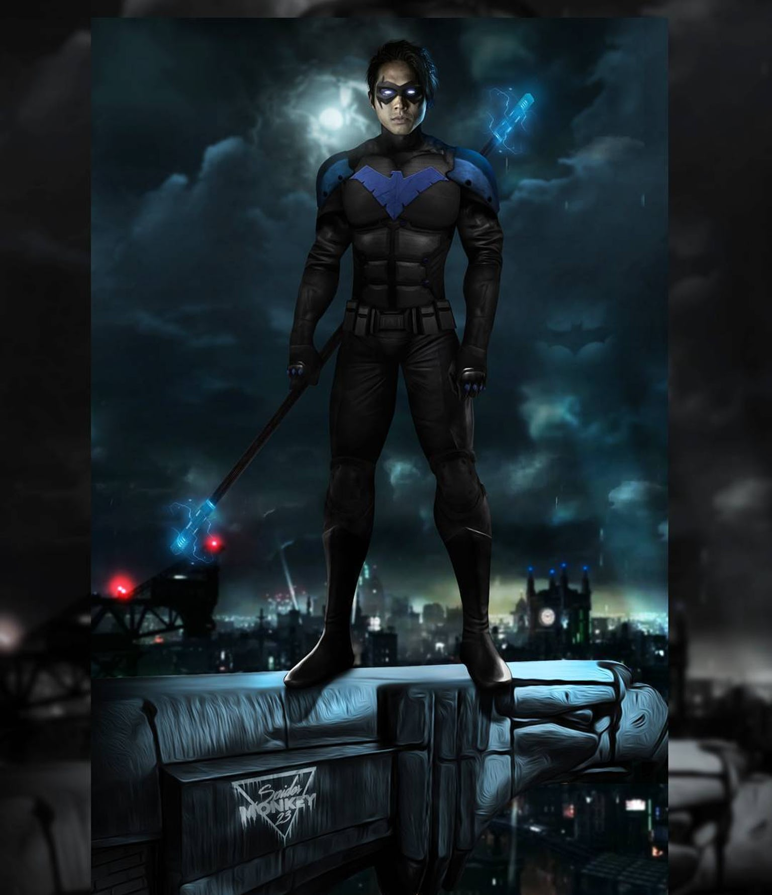 Titans Nightwing Suit #robindc | Nightwing cosplay, Titans