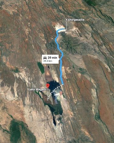 lake magadi map